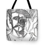 After Billy Childish Pencil Drawing B2-4 Tote Bag
