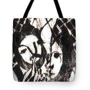 After Mikhail Larionov Black Oil Painting 14 Tote Bag