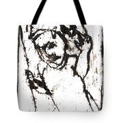 After Mikhail Larionov Black Oil Painting 16 Tote Bag