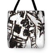 After Mikhail Larionov Black Oil Painting 3 Tote Bag
