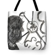 After Mikhail Larionov Pencil Drawing 13 Tote Bag