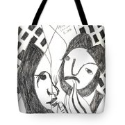After Mikhail Larionov Pencil Drawing 14 Tote Bag
