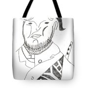 After Mikhail Larionov Pencil Drawing 2 Tote Bag