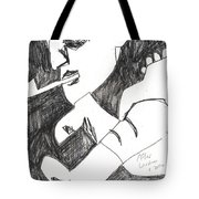 After Mikhail Larionov Pencil Drawing 4 Tote Bag