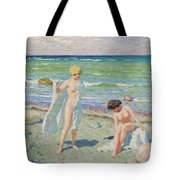 After The Swim  Oil On Canvas Tote Bag
