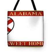 Alabama State License Plate Tote Bag