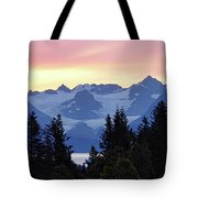 Alaska's Kenai Mountains At Dawn Tote Bag