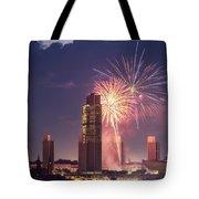 Albany Fireworks 2019 Tote Bag by Brad Wenskoski