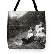 Alexander Keighley - Children On A Picnic, Ca 1890 Tote Bag