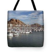 Alicante Marina And The Santa Barbara Castle Tote Bag