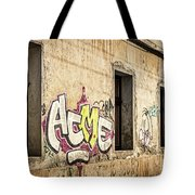 Alley Graffiti And Windows - Romania Tote Bag