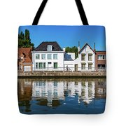 Along The Canal. Flanderenfietsroute.   Tote Bag
