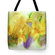 Amenti Yellow Iris Flowers Tote Bag