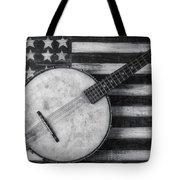 American Banjo Black And White Tote Bag