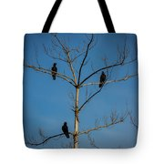 American Crows In Bare Tree Tote Bag