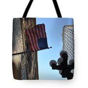 American Flag Downtown La Tote Bag