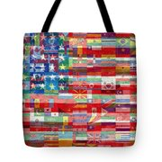 American Flags Of The World Tote Bag