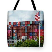 American Georgia Shipping Trade Tote Bag