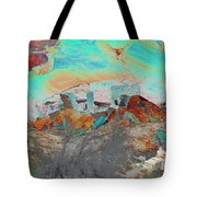 American Indian Home In Abstract Tote Bag