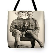 American Soldiers With A Parasol Circa 1915 Tote Bag