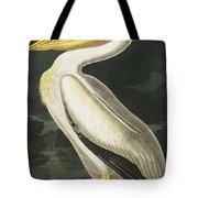 American White Pelican, Pelecanus Erythrorhynchos By Audubon Tote Bag