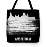 Amsterdam Skyline Brush Stroke White Tote Bag