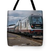 Amtrak Cascades Waiting In Eugene Tote Bag by Matthew Irvin