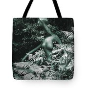 An Alien Walking Through The Forest Tote Bag