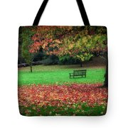 An Autumn Bench At Clyne Gardens Tote Bag