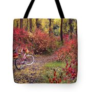An Autumn Bike Trek Tote Bag