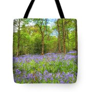 An English Bluebell Wood Tote Bag