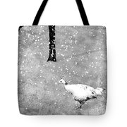 And Winter Lingered Tote Bag by Mary Lee Dereske