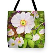 Anemones Birthday Card Tote Bag