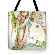 Angel  Carrying A Palm Branch Tote Bag