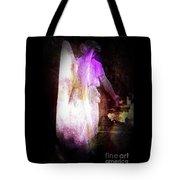 Angel In Black Tote Bag