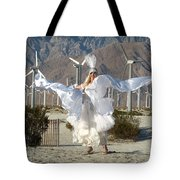 Angel Swirling In The Desert Tote Bag