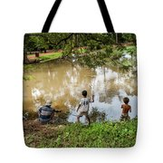 Angkor Fishing Family Tote Bag