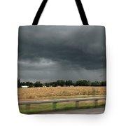 Angry Black Sky Tote Bag