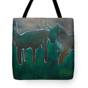 Animals In A Field Tote Bag