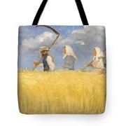 Anna Ancher - Harvesters Tote Bag