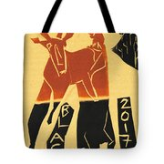 Antelope Black Ivory Woodcut9 Tote Bag