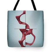 Antelucan Red - Abstract Shell With Cross Tote Bag