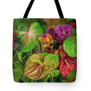 Anthurium Riot Tote Bag
