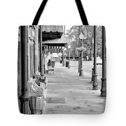 Antique Alley In Black And White Tote Bag