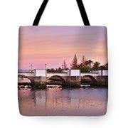 Antique Bridge Of Tavira During Twilight. Portugal Tote Bag