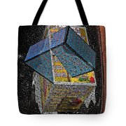 Antique Car Fender With 3d Text Boxes Tote Bag