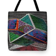 Antique Car Hood With 3d Text Boxes Tote Bag