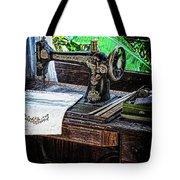 Antique Sewing Machine Tote Bag