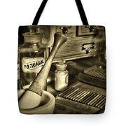 Apothecary-vintage Pill Roller Sepia Tote Bag