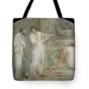 Apparition Of Saint Didacus Above His Sepulchre  Tote Bag